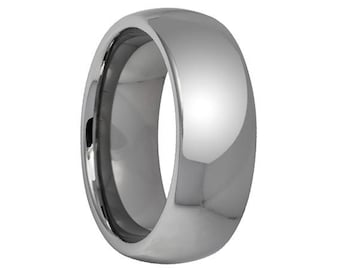 Tungsten Wedding Band,Classic Tungsten,Domed,Shiny High Polish Finish Wedding Band,Tungsten Carbide,Mens Wedding Band,Engraving,Mens Ring