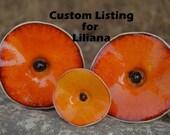 Custom Listing for Liliana / Orange Flowers