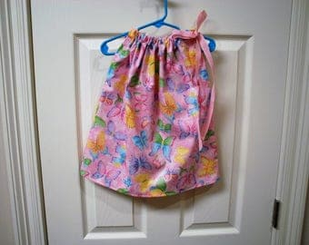Butterfly Pillowcase Dress size 6 - 12 Months