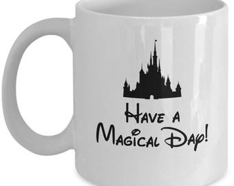 Disney Castle Have a Magical Day Coffee Cup Mug Gift Sleeping Beauty
