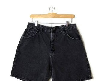 Vintage Lee Black Denim Shorts from 80's/W30*