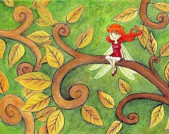 "Drawing / illustration ""Dragonfly"""