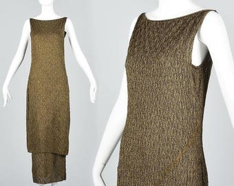 SALE Small Gold Evening Dress Formal Pencil Dress Christian Dior Boutique John Galliano Strapless Ball Gown