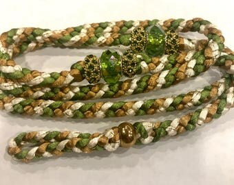 Olive Green, Gold, and Ivory/Gold Shimmer Show Lead
