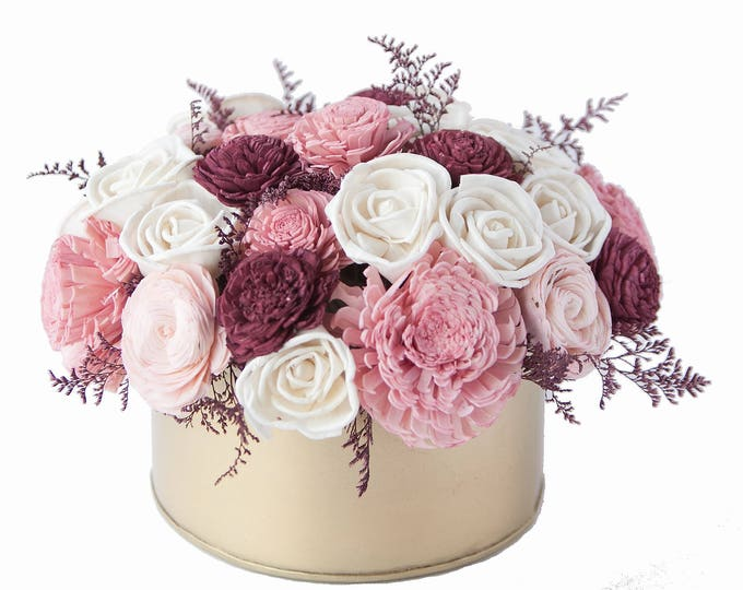 Sola Flower Sweetheart Bouquet - Sola Flower Arrangement, Valentine's Floral Arrangement, Floral Centerpiece, Forever bouquet