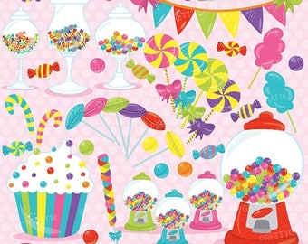 80% OFF SALE Candy clipart commercial use, candy land vector graphics, digital clip art, digital images - CL707