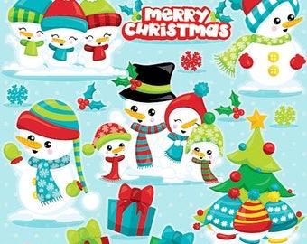 80% OFF SALE Snowman clipart commercial use, snowman vector graphics, Christmas snowman digital clip art, digital images  - CL1041