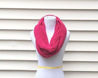 THE CENTENNIAL•• soft infinity scarf, loop scarf, circle scarf, magenta infinity scarf