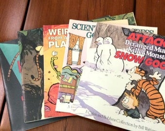 5 Calvin and Hobbes Comic Strip Books by Bill Watterson