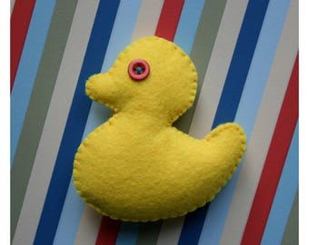 YELLOW DUCK BROOCH