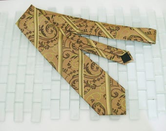 Cafe au Lait Chartreuse Green Silk Tie - John Oxford