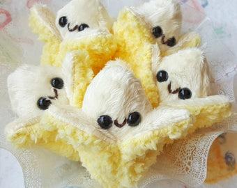 Teeny Banana Kawaii Peel-able Miniature Plush Doll | Handmade by Precious Bbyz / Bunnyprince
