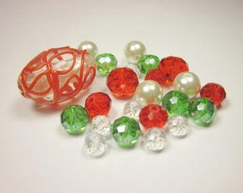 23 glass beads in assorted colors (BC49)