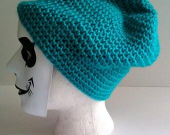 100% acrylic crochet beanie