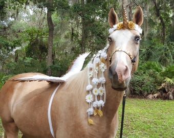 Angel Unicorn Horse Costume - Magic Unicorn Costume for Minis, Ponies, Horses - Outfit for Equines