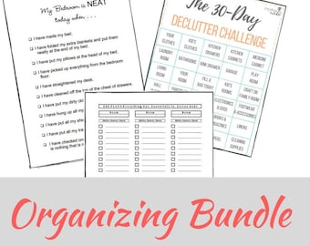 Organizing Worksheet Bundle