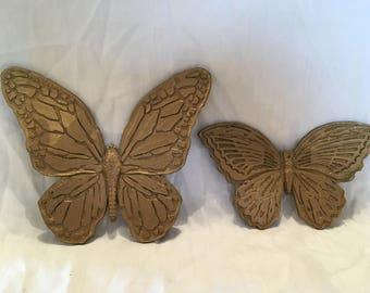 Vintage HomCo pair of Butterflies,  1971