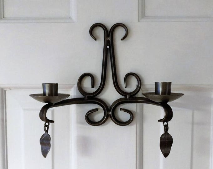 Antique Swedish Iron Wall Candle Holder