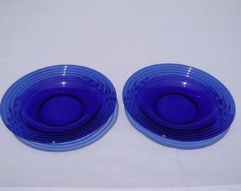 Cobalt Soup Bowl Pair