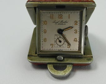Early PAUL BUHRE Compacked Travel clock Swiss Movment