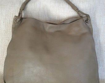 15% SUMMER SALE Vintage large BOTTEGA Veneta light green leather woven strap tote bag