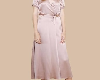 WRAP DRESS | Beautiful Pure Silk and Easy to Wear | Available in Midi or Maxi Lengths | Select From Our Pretty Silk Fabrics