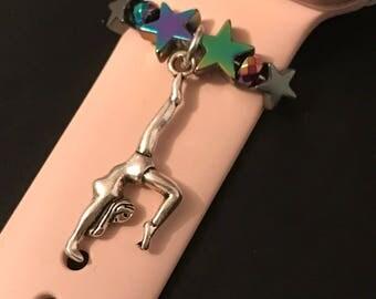 Apple Watch Charm/ Slide on Jewelry/ Accessory/ Gymnastics Olympics Gymnast