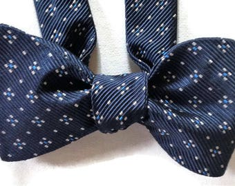 Silk Bow Tie for Men - Starlight - One-of-a-Kind, Self-tie - Free Shipping