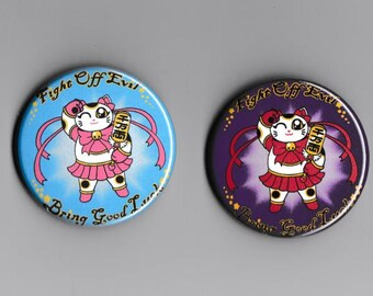 Magical Girl Maneki Neko Button