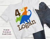 Dinosaur Birthday Shirt Iron-on, Dinosaur Birthday Shirts, T Shirt Transfers, T Shirt Iron On Transfer / No.416