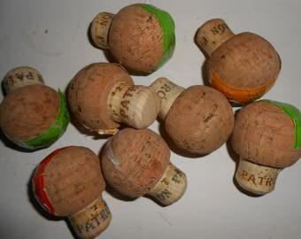 Lot of 8 Patron Corks, Natural Cork, Wine Cork for Crafts, Patron Cork
