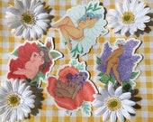 """4"""" Flower Babe Sticker Set"""