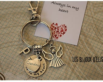 1 Angel Forever In My Heart Keychain Memorial Keychain (KC33)