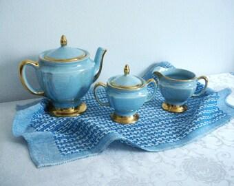 Lovely Linen Lace Weave Tea Towel - Aqua