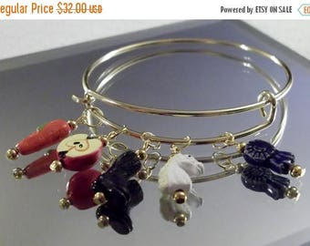 CLEARANCE English Riding Charms 8-inch/20 cm Bangle Bracelet by Woven Beads