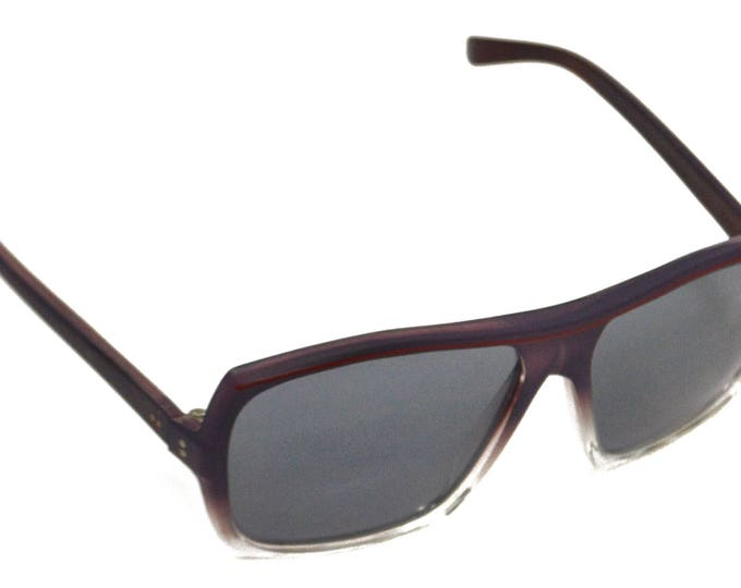 Vintage 70s Foster Grant Deadstock Rectangle Clear Dark Shades Sunglasses