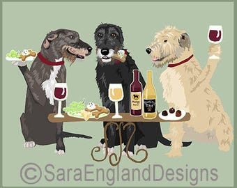 Dogs WINEing - Irish Wolfhound