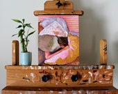 Original Oil Painting on Wood  - Covered, bedroom art, modern art