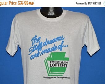 XMAS in JULY SALE 80s Pennsylvania Lottery Puffy Paint t-shirt Medium