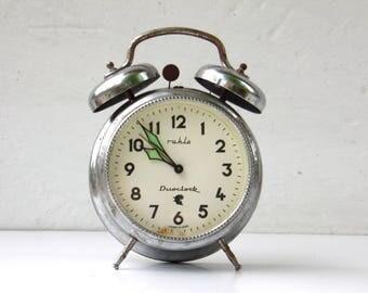 Vintag Mechanical Alarm Clock with Bell - Ruhla