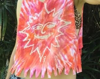 Handmade Hippie Tie Dye Crop Top Cover Up