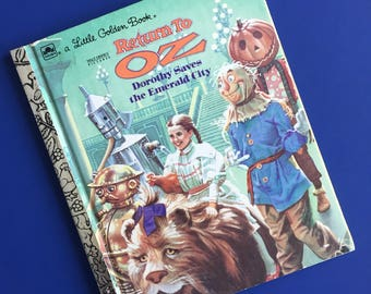 1985 Return to Oz - Dorothy Saves the Emerald City - Little Golden Book - Movie Storybook