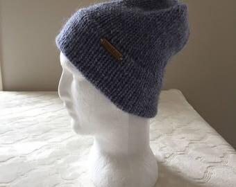 Light blue knitted beanie, men beanie, women beanie, winter beanie, knitted hat, knitted beanie, alpaca beanie, alpaca hat, wool beanie.