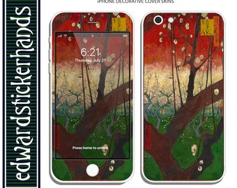 iPhone Decorative Cover Skin - Van Gogh Flowering Plum Orchard (after Hirogishe) Pattern!