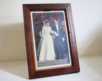 Embroidered vintage wedding photo