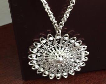 Sunrise Charm Silver Necklace