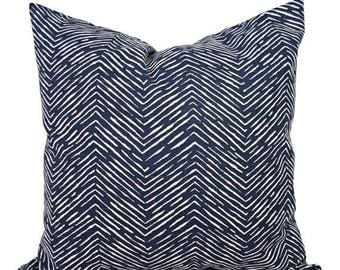 15% OFF SALE Blue Decorative Pillow Covers - Two Navy Chevron Throw Pillow Covers - Chevron Pillow - Navy Accent Pillows - Decorative Pillow