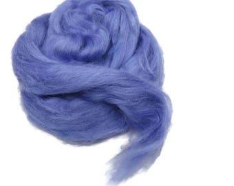 SALE 1 oz Tussah Silk Roving , Lilac