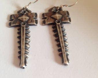 Celtic Warrior sterling silver earrings