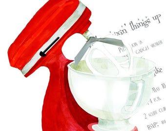 Kitchen Shower Invitation Mixer Invitation Bridal Shower Bridal Shower Invitation KitchenAid Invitation Stand Mixer Invitation
